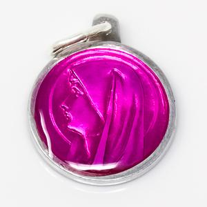 Pink Virgin Mary Medal.