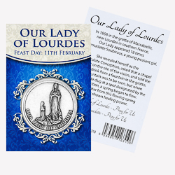 Pocket Token - Our Lady of Lourdes.
