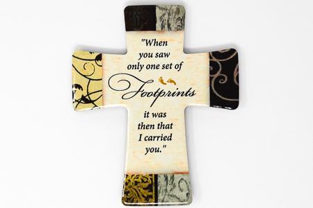 Porcelain Cross Footprints.