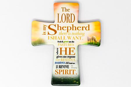 Porcelain Cross The Lord Is My Shepherd.