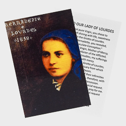 Prayer Card Saint Bernadette.