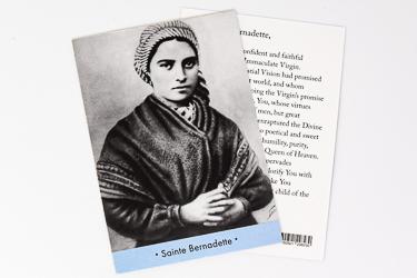 Prayer Card Saint Bernadette.