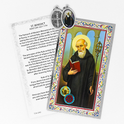 Prayer Card to St.Benedict.