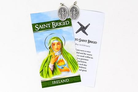 Prayer Card to St. Brigid of Ireland.