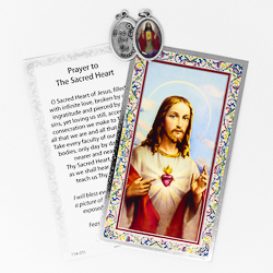 Prayer Card to Sacred Heart.