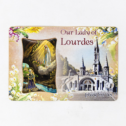 Lourdes Wall Plaque & Prayer Card.