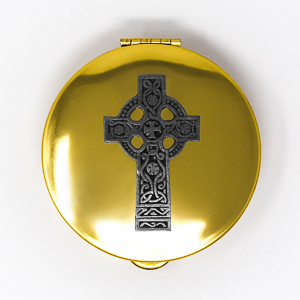 Pyx with Celtic Cross Design.