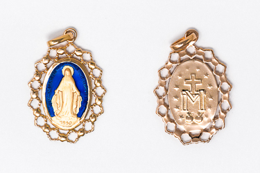 Gold Miraculous Medals.