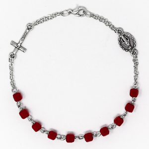 Crystal Miraculous Rosary Bracelet.
