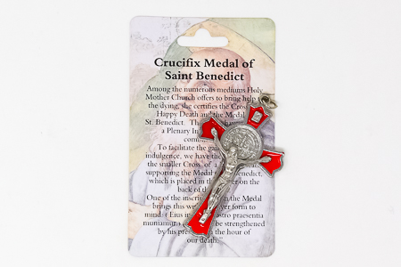 Red St.Benedict Crucifix.