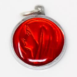Red Virgin Mary Medal.