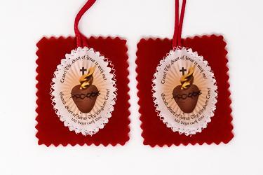 Red Sacred Heart Scapular