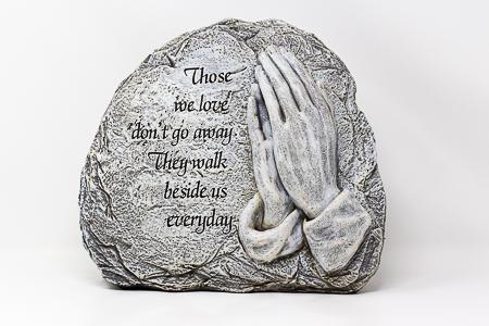 Graveyard Statue Praying Hands.