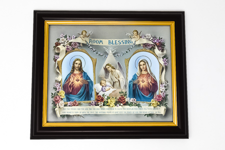 Double Heart Framed Picture.