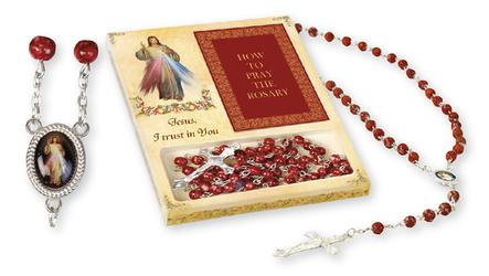 Divine Mercy Rosary & Laminated Prayer Card.