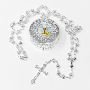 Communion Rosary & Rosary Box