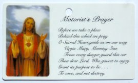 Sacred Heart of Jesus & the Motorist's Prayer.
