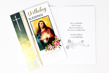 Sacred Heart of Jesus Birthday Card.