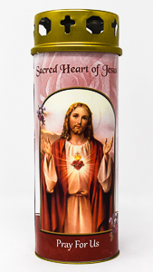 Sacred Heart of Jesus Candle.