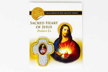 Sacred Heart of Jesus Car Plaque.
