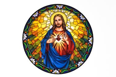 Sacred Heart of Jesus Sun Catcher.