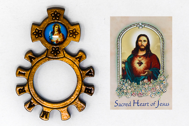 Rosary Ring  Sacred Heart of Jesus.