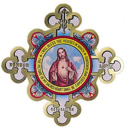Sacred Heart of Jesus Door Shield.