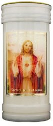 Sacred Heart of Jesus Pillar Candle.