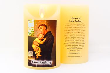 Saint Anthony Wax Candle.