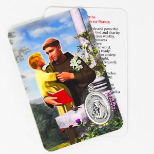 Saint Anthony Prayer Card & Medal.