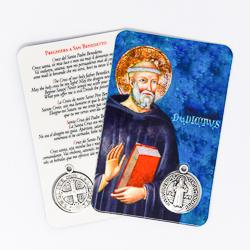 Saint Benedict Laminated Prayer Card.