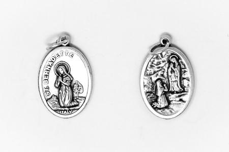 Lourdes Oxidised Medal