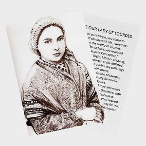 Oh Saint Bernadette Prayer Card.