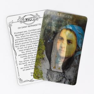 Moving Plastic Prayer Card.