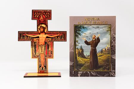 Saint Francis Booklet & Wood Cross.
