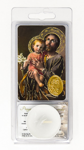 Saint Joseph Votive Candle & Prayer.