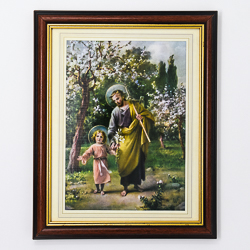 Saint Joseph with Jesus Picture.