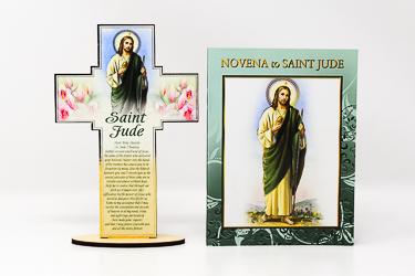 Saint Jude Booklet & Wood Cross.