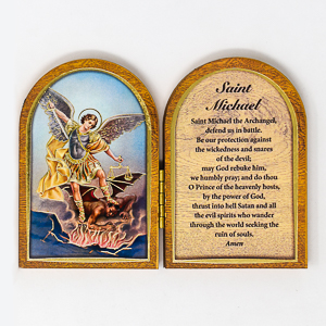 Sacred Heart of Jesus Folding Plaque.