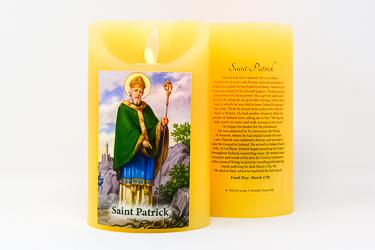 Saint Patrick Wax Candle.
