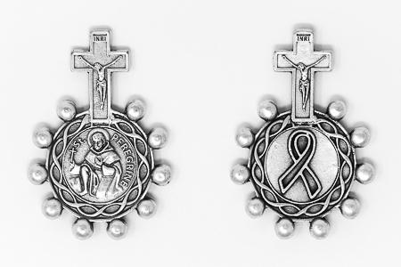 Saint Peregrine Rosary Ring.
