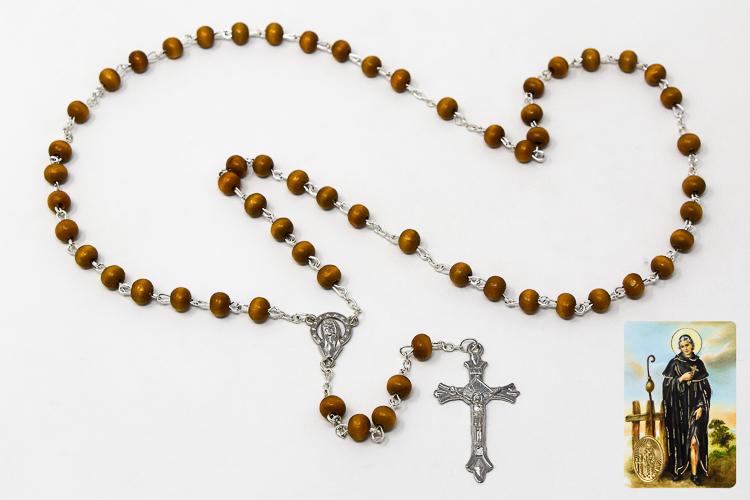 ffcdf7456f4 DIRECT FROM LOURDES - Saint Peregrine Wooden Rosary & Prayer Card Set