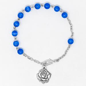 Rosary Bracelet with Cat's Eye Beads