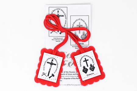 Red Scapular & Leaflet