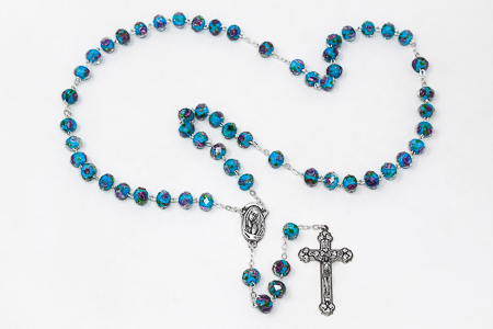Scapular Rose Rosary - Turquoise