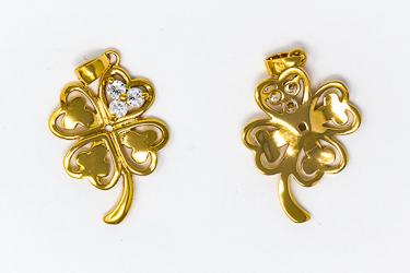 Gold Shamrock Pendant.