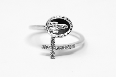 Our Lady of Fatima Apparition Ajustable Ring.