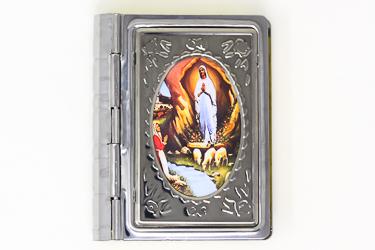 Silver Book Rosary Box.