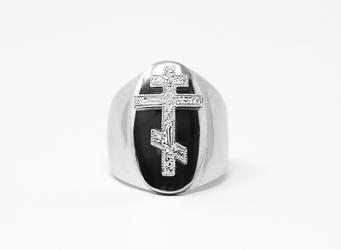 Mens Cross Ring.