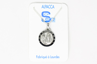 Silver Necklace Depicting the Apparitions